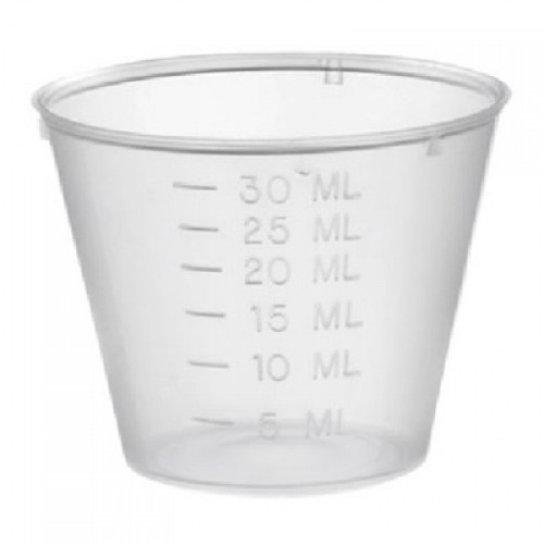 Plastic Medicine Cups 30ml X 250 Pack