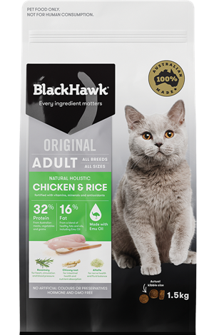 Black Hawk Chicken And Rice Feline