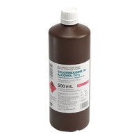 CHLORHEXIDINE 0.5% ALCOHOL 70% 500ML