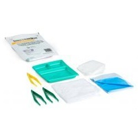 GAUZE SWAB DRESSING PACK BASIC STERILE 3 FORCEPS + 6