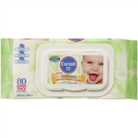 Curash Wipes Soothing Aloe 80's