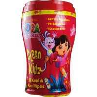 Dora The Explorer Hand & Face Wipes 50's