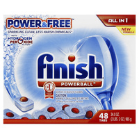 Finish Powerball All in One with Hydrogen Peroxide Action 48's