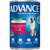 Advance Adult All Breed Casserole with Lamb 410g x12