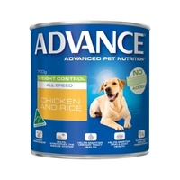 Advance Weight Control All Breed Chicken & Rice 700g x12