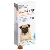 BRAVECTO SMALL DOG 250MG ORANGE 4.5-10KG