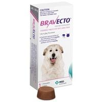BRAVECTO VERY LARGE DOG 1400MG PURPLE 40 - 56KG