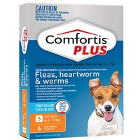 COMFORTIS PLUS 4.6-9KG CHEWABLE ORANGE DOG