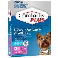 COMFORTIS PLUS 2.3-4.5KG CHEWABLE PINK DOG
