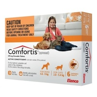 Comfortis for Small Dogs 4.6 - 9 kg (10.1 - 20 lb) Orange 6's