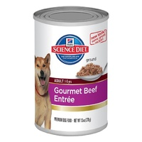 Hills Canine Adult Beef Cans 370gx12 Wet