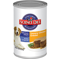 Hill Science Mature Adult Chicken and Barley Entree 370x12