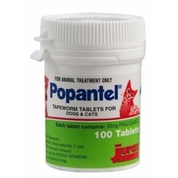 Popantel Tapeworm Tablets for Dogs and Cats 10KG