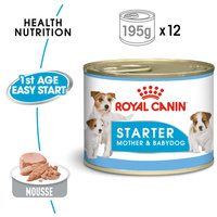 Royal Canin Dog Starter Mousse 12s Cans