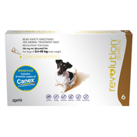Revolution For Dogs 5.1-10kg Brown With Canex