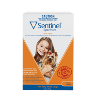 Sentinel Spectrum Chews Orange for Very Small Dogs 0-4kg