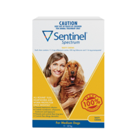 Sentinel Spectrum Chews Yellow for Medium Dogs 11-22kg