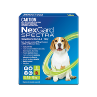 NexGard Spectra Chewables For  Small Dogs Green 7.6-15kg