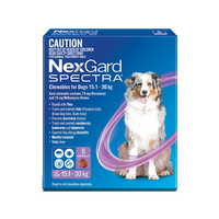 NexGard SPECTRA Chewables For Large Dogs Purple 15.1-30kg