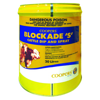 Coopers Blockade S Cattle Dip and Spray 5 litre