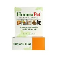 Homeopet Skin And Coat 15ml Dog Cat Bird Rabbit Puppy Supplement Drop