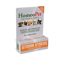 Homeopet Storm Stress  Thunderstorm Fireworks Noises Calming Drops Dog