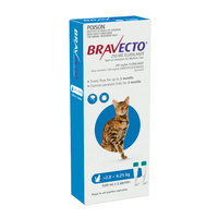 BRAVECTO SPOT ON CAT BLUE 2.8 - 6.25KG 250MG