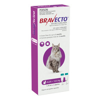 BRAVECTO SPOT ON CAT PURPLE 6.25 - 12.5KG 500MG