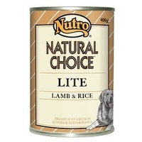 NUTRO DOG LITE LAMB RICE 400GX12