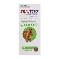 BRAVECTO MEDIUM DOG 500MG GREEN 10KG - 20KG