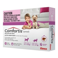 Comfortis for Extra Small Dogs 2.3 - 4.5 kg (5 -10 lb) Pink