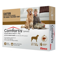 Comfortis for X Large Dogs 27.1 - 54 kg (60.1 - 120 lb) Brown