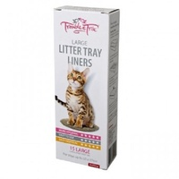 MP CAT LITTER TRAY LINERS LGE 15s