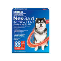 NexGard Spectra Chewables For Extra Large Dogs Red 30.1-60kg